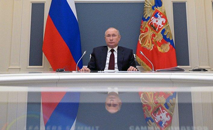 Президент РФ В. Путин выступил на онлайн-саммите по климату