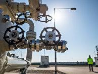 Береговые объекты натерритории газораспределительного центра магистрального газопровода «Северный поток— 2» вЛубмине, Германия