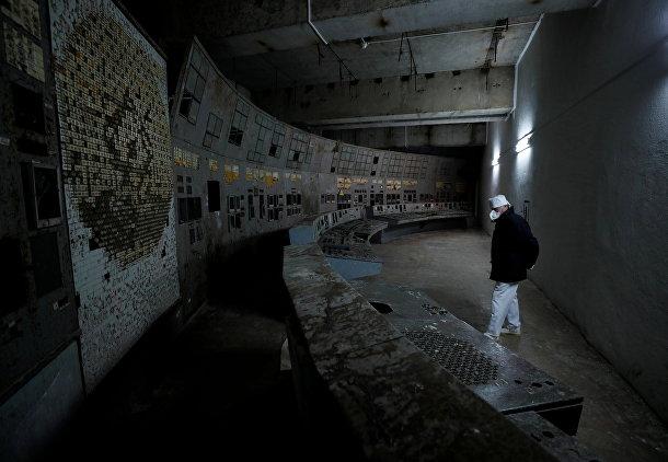 Заброшенный центр управления четвертым энергоблоком Чернобыльской АЭС