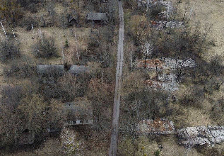 Заброшенная деревня в Чернобыльской зоне отчуждения