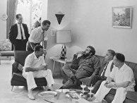 Юрий Гагарин в гостях у Фиделя Кастро