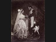 Король Альберт и королева Виктория 1854 год