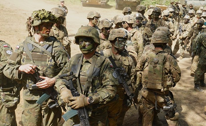 Польские иамериканские военные научениях НАТО «Защитник Европы»