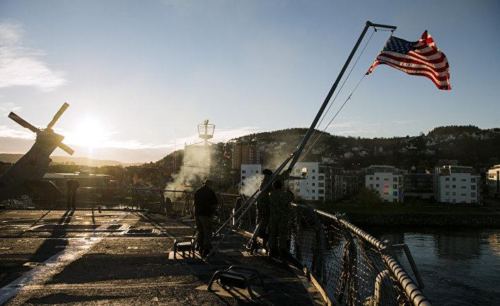 Американские военные во время учений НАТО в Троннхейме, Норвегия