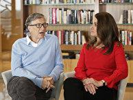 Соучредитель Microsoft Билл Гейтс и его жена Мелинда