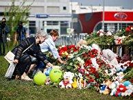 Траур по погибшим в казанской школе
