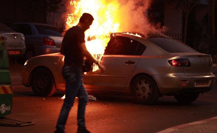 Ситуация в Тель-Авиве в связи с обострением палестино-израильского конфликта