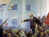 """Картина """"В.И. Ленин провозглашает Советскую власть"""", 1962 год."""