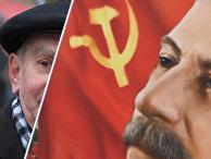 Возложение цветов к могиле И. В. Сталина у Кремлевской стены