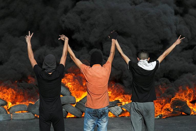 Акция протеста палестинцев в Иерусалиме