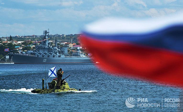 Репетиция парада ВМФ в Севастополе