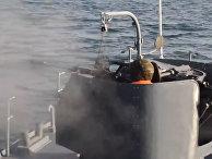 Боевые стрельбы азербайджанских кораблей