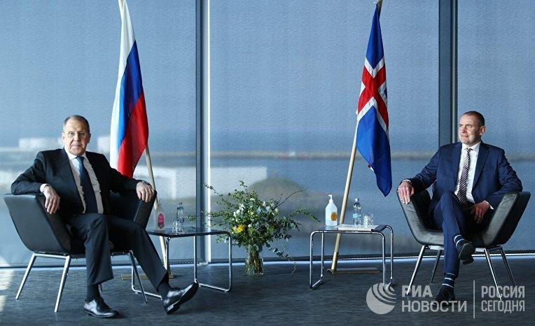 Визит главы МИД РФ С. Лаврова в Исландию