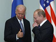 Встреча Джо Байдена в должности вице-президента и Владимира Путина в должности премьер-министра