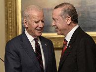 Вице-президент США Джо Байден и президент Турции Реджеп Эрдоган в Стамбуле, 2014 год