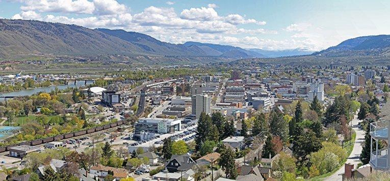 Вид города Камлупс, Канада