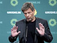 Лидеров немецкой партии Зеленых Роберт Хабек