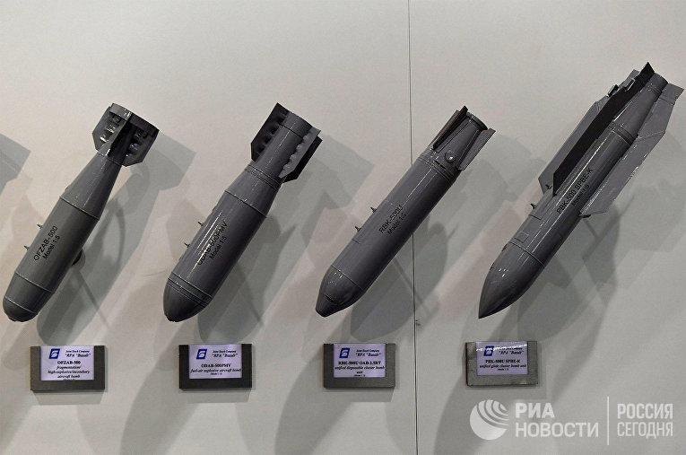 """Модели авиационных бомб на стенде НПО """"Базальт"""""""