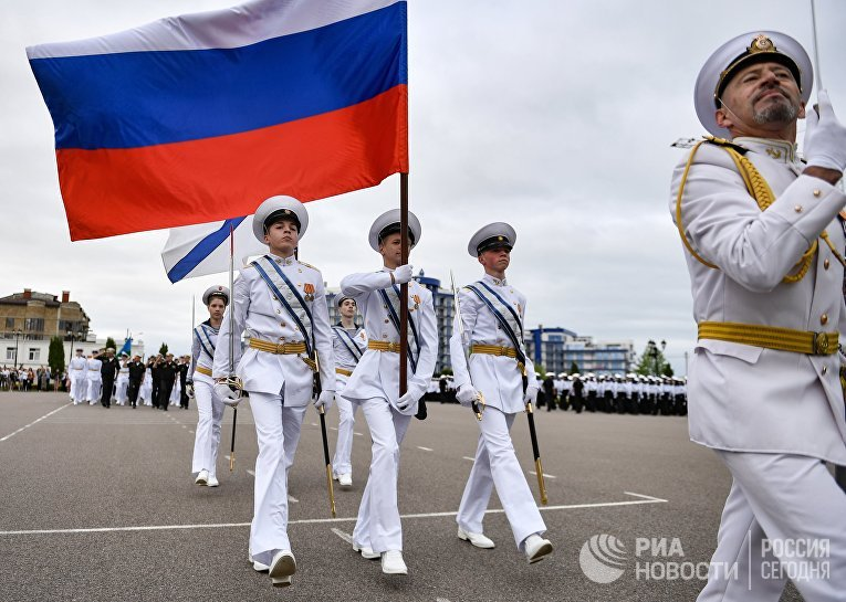 Последний звонок в филиале Нахимовского военно-морского училища в Севастополе