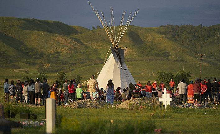Безымянные могилы, где были найдены человеческие останки в Саскачеване, Канада
