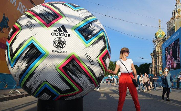 Открытие фан-зоны Евро-2020 в Санкт-Петербурге