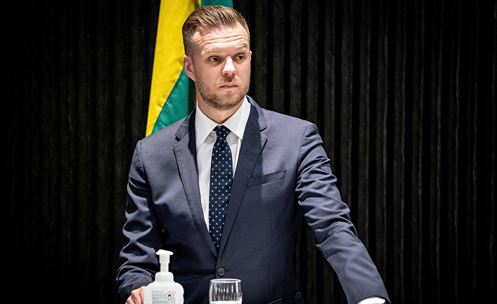 Министр иностранных дел Литовской Республики Габриэлюс Ландсбергис