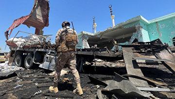 Иракский солдат в провинции аль-Анбар