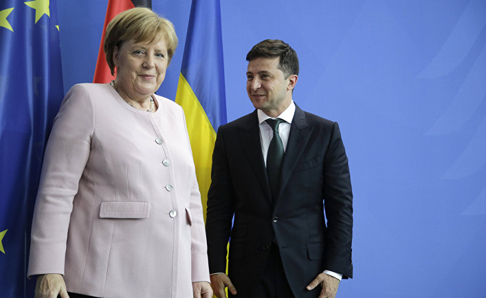 Ангела Меркель и Владимир Зеленский в Берлине