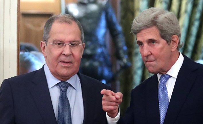 Встреча главы МИД РФ С. Лаврова и спецпредставителя президента США по вопросом климата Дж. Керри