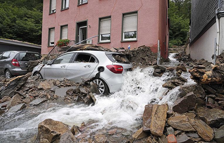 Последствия наводнения в Шульде