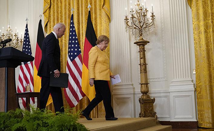 Канцлер Германии Ангела Меркель и президент Джо Байден