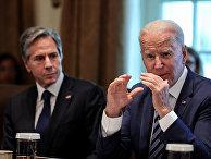 Президент США Джо Байден и госсекретарь США Энтони Блинкен в Белом доме в Вашингтоне
