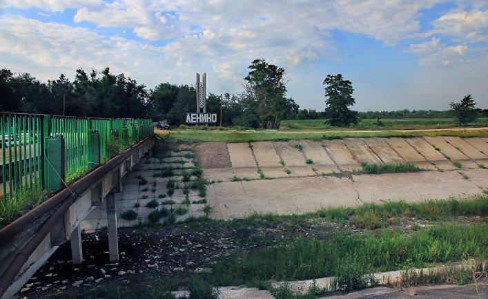 Северо-Крымский канал. Поселок Ленино