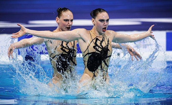 Синхронное плавание. Чемпионат Европы. Дуэт. Произвольная программа