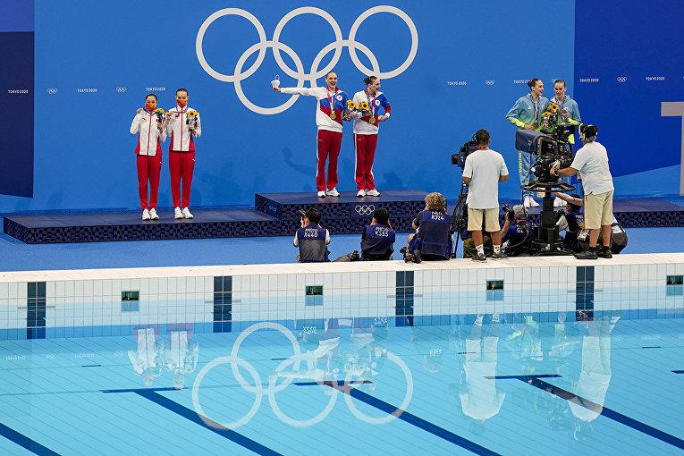 Российские спортсменки, члены сборной России Светлана Колесниченко и Светлана Ромашина