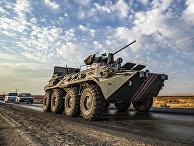 Российский БТР в провинции Хасаке, Сирия