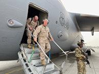 Американские военные в Международный аэропорт Хамида Карзая в Кабуле, Афганистан