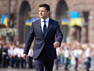 Президент Украины Владимир Зеленский на параде по случаю 30-й годовщины независимости Украины