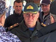 Глава МЧС Е. Зиничев во время учений по защите от ЧС арктической зоны
