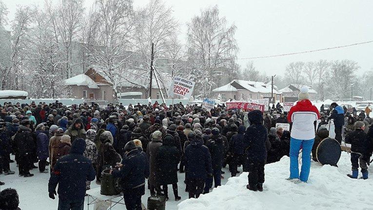 Протесты в Шиесе