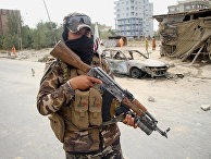 Последствия ракетного обстрела в Кабуле